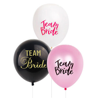 "12"" 10pcs TEAM BRIDE TO BE BALLOONS Latex Printed Hen Party Wedding Accessories"