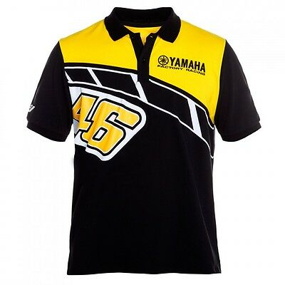 OFFICIAL Valentino Rossi VR46 Moto GP Yamaha Heritage Polo shirt MENS - NEW