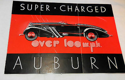 1935 / 1936 AUBURN SUPER-CHARGED Models Original catalog brochure Scarce