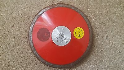 VINEX Athletics Competition and Training Practice red THROWING DISCUS - 1.00 kg