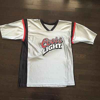 Vintage Coors Light Football Jersey #24 Mens Size M