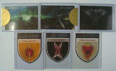 Lot Rittenhouse **GAME Of THRONES*** GoT Season 2-3-4-5 CASE TOPPERS 2013 - 2016