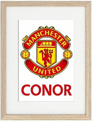 Manchester United A4 Poster Name Personalised  Premier League Mourinho Pogba