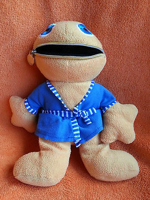 """Whitehouse Leisure WL Zippy in Dressing Gown Rainbow Soft Toy 11"""" Zip Up Mouth"""