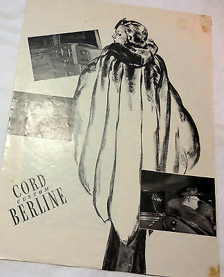1937 CORD CUSTOM BERLINE Original Brochure catalog RARE