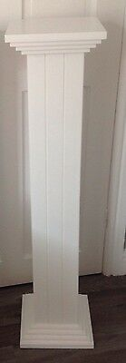 Pedestals Stands Wedding Flower Etc 1Large 42 Inch Hand Made In White