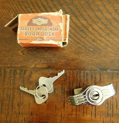 1937 Ford Glove Box Compartment Door Lock Box Hurd Keys NOS 78-701644 NICE