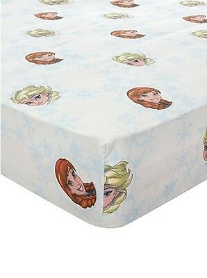 Disney Frozen Elsa Anna Single Fitted Bed Sheet Girl Kid Children Room Decor
