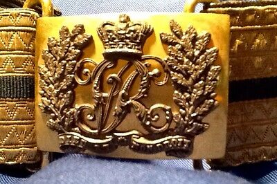 Victorian (1837-1901) Very Rare Ceremonial Belt & Buckle, Possible Royal Origins