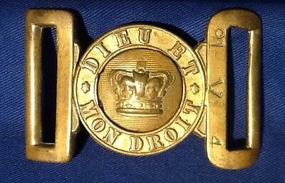 Unusual Victorian (1837-1901) Rare Psalm 91V4, British Brass Army Belt Buckle