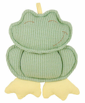 Baby Organic Eco Soft Toy Frog Rattle Teether