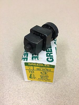 """Greenlee 5/8"""" """"square"""" Metal Punch Set, 501-3170.2 (Cat 733), +75% Off!"""