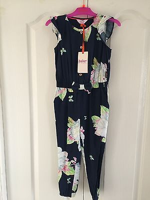 Ted Baker Girls Navy Floral Jumpsuit. 3-4 Years. BNWT. Designer