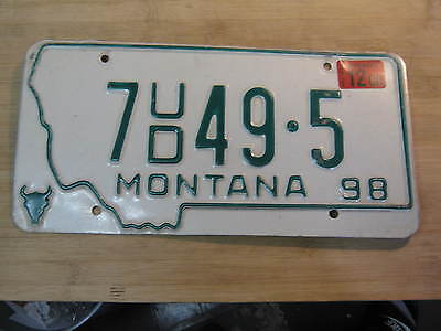 2000 MONTANA DEALER LICENSE PLATE EXPIRED 7 ud 49 5