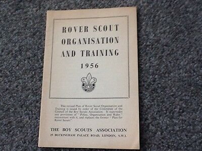 Vintage Booklet - Rover Scout Organisation And Training - 1956