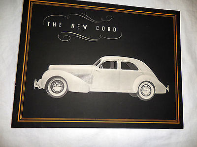 1936 The New CORD Original color brochure BEST catalog RARE in mint condition