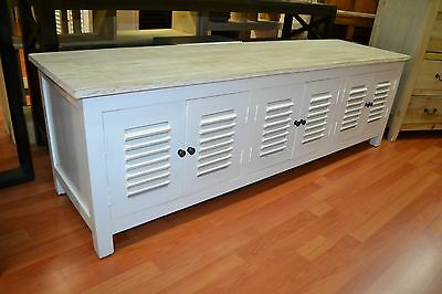 White Low Buffet Sideboard French Provincial Hamptons TV entertainment unit seat