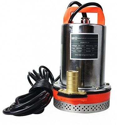 BACOENG DC 24V Farm and Ranch Solar Powered Submersible Water Well Pump 30FT