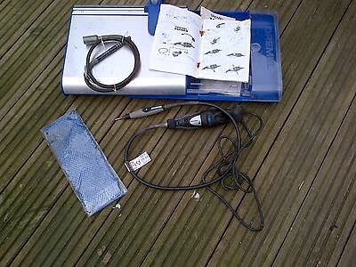 old dremel 300 extension model 225 flexi shaft  rusty spares repair plus stand