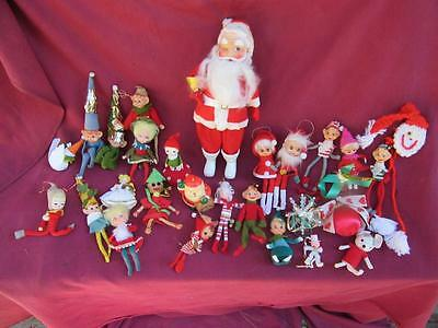 A Wonderful Colorful Lot Of 30 Christmas Pixies Elves Shelf Sitter + Extras