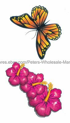 Us Seller Party Favor Hibiscus Flower Butterfly Temporary Tattoo