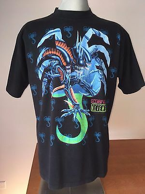 1993 OPERATION: ALIENS T-Shirt VTG Vintage 90s SCORPION Ripley ALIEN 3 Cartoon