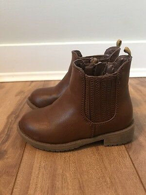 Toddler Girl's Joe Fresh Brown Leather Boots Size 6