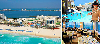 Cancun Mexico All-Inclusive Resort Vacation Gran Caribe Real Family Kids Free!!