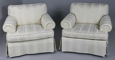 Baker Furniture Pair of Upholstered Club Chairs