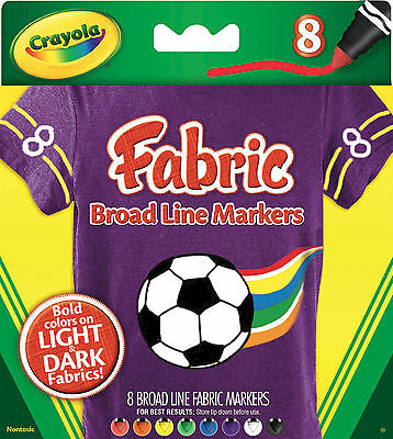 Crayola Fabric Markers - 8 pack