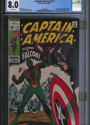 Captain America # 117 CGC 8.0  White Pages. UnRestored.