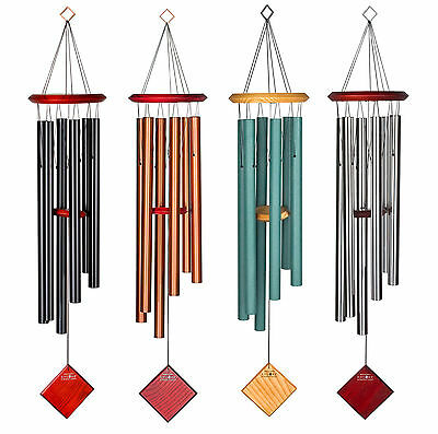 "Chimes of Earth Woodstock Weather Resistant Wind Chime Large 1"" Tube 4 Colours"