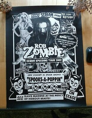 ROB ZOMBIE  DEMON SPEEDING TOUR POSTER   not lp
