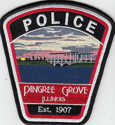 Pingree Grove Illinois Il Police Shoulder Patch (Nice & Colorful)