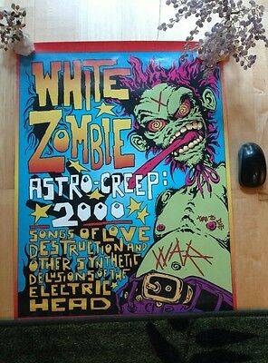 WHITE ZOMBIE  ASTRO CREEP PROMO POSTER   not lp