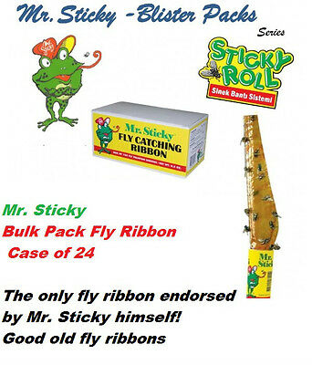 Mr Sticky Roll  Fly Ribbon Tape 8 ft. Quick Strip case 24 packs