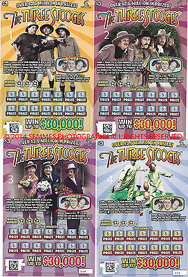 3 Stooges $3.00 Lottery Ticket Connecticut 2014 2 Edition in Connecticut Collect