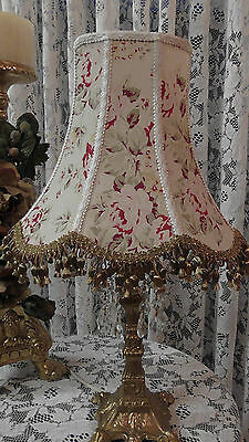Antique Rachel Ashwell One Of A Kind Lampshade Shabby Chic Vintage Table Lamp