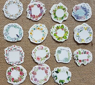 45 Flower Floral Paper Stickers for Scrapbooking Card Making Crafts Labels