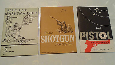 Vintage National Rifle Association Booklets , Lot Of 3 Small Books