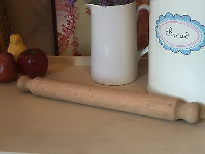 Vintage Style Wooden Rolling Pin Country Farmhouse Retro Baking Kitchenalia