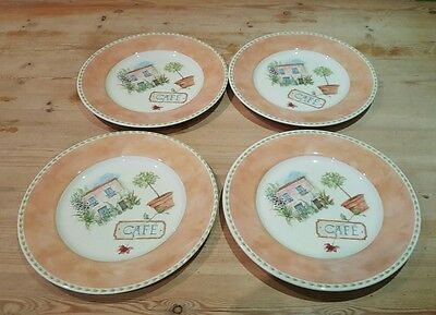 4 Royal Stafford Cafe Provence Dinner Plates