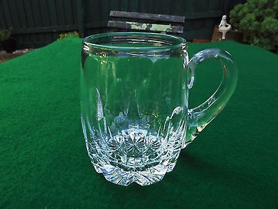 Vintage English Stuart Hand Cut Crystal Mug Tankard Beer Stein