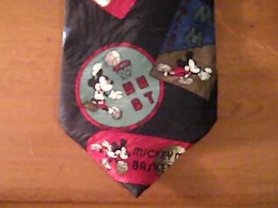 DISNEY Mickey Mouse Rare Mens Tie Unlimited Player of the Year Sports