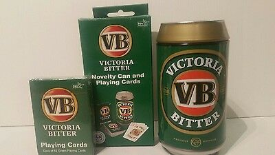 VB Victoria Bitter Beer new metal tin novelty can and playing cards