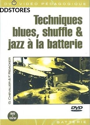 Chevalier Techniques Blues Shuffle Jazz A La Batterie Drums Dvd Fre DVD – 15...