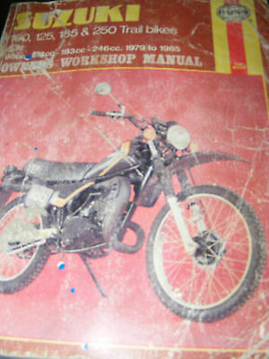 Suzuki 100, 125, 185, 250 Trail Bikes  1979 To 85    (All Models Listed)