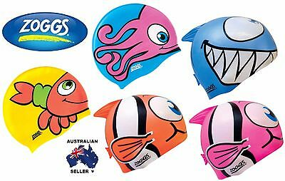 Zoggs Junior/Kids Zoggy & Friends Character Silicone Swimming Cap/ Swim Hat