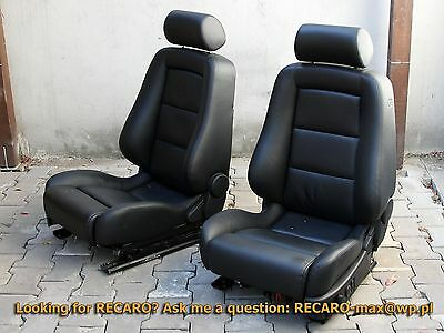 RECARO Ergomed seats suitable for  BMW e39 or e38 - the Pair - Black