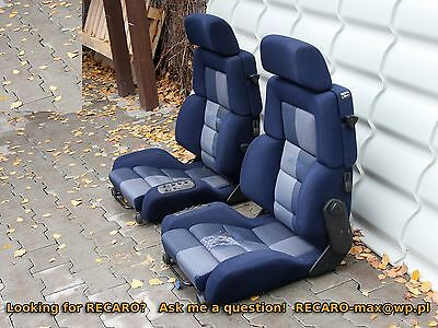 RECARO Classic c81 - the Pair -Blue Power Setas fits w201 w124 BMW e30 electric
